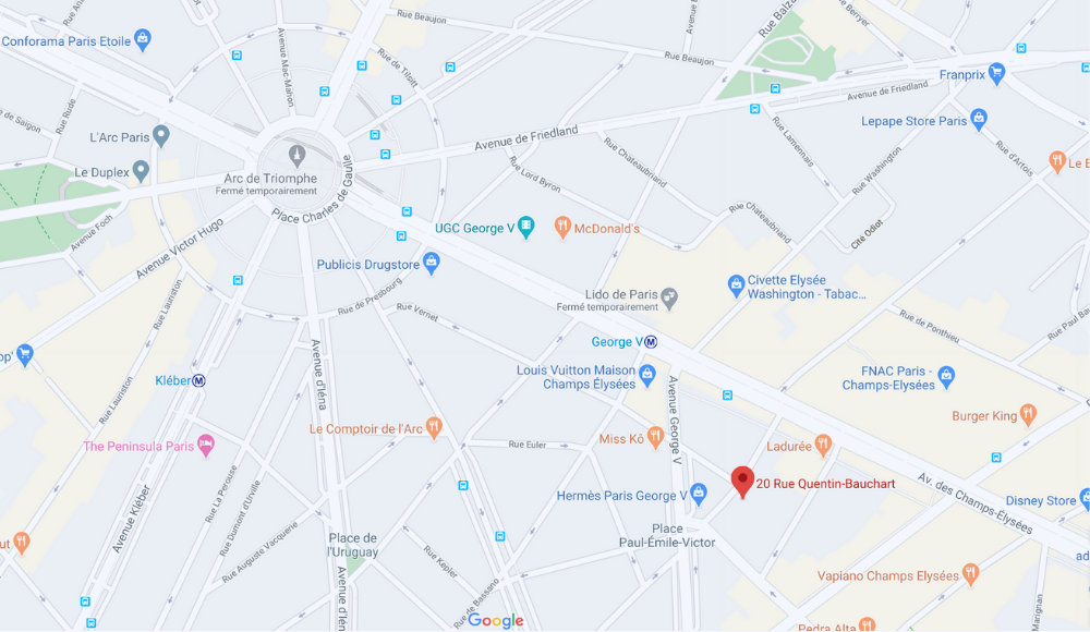 20 Rue Quentin Bauchart Paris